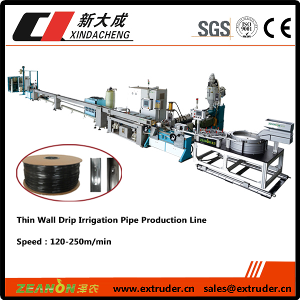 Thin-wall flat drip irrigation pipe Extrusion line Featured Image