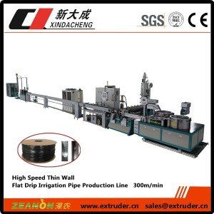 High Speed Flat Irrigation Pipe Production Line