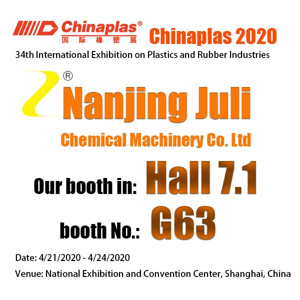 YOU'RE WELCOME TO OUR BOOTH G63/HALL 7.1 IN SHANGHAI 2020 CHINAPLAS