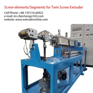 Twin screw Plasic Polymer PET Sheet Laboratory Extrusion line