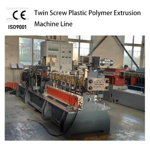 65mm Diameter Twin Screw Plastic Extruder Production Line SHJ Series