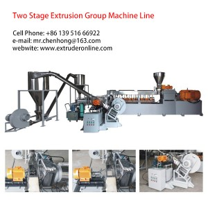 Two stage plastic polymer extruder plastic filler extrusion air cooling hot face cutting system machine