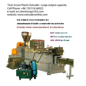 Co-rotating Parallel Twin Screw Plastic Polymer Extruder