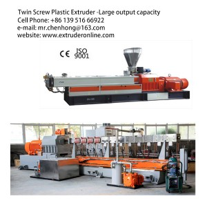 Twin-Screw Plastic Polymer Extruder make BIO MESS DEGRADABLE GRANULATE SHEET MACHINE