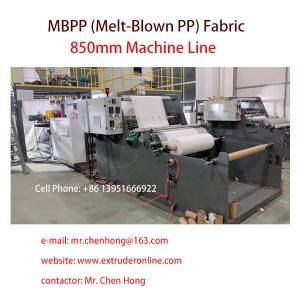 Melt Blown PP MBPP N90 N95Fabric Machine