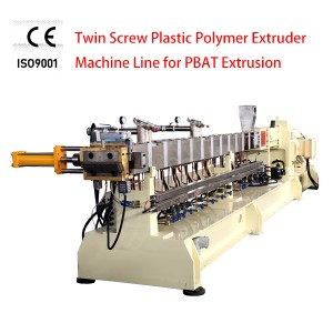 TWIN SCREW PLASTIC POLYMER EXTRUDER SHJ-75D PBAT BIO Degradable Granulator Machine Line