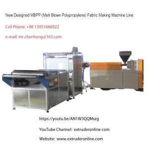 Melt Blown Polypropylene MBPP N90 N95Fabric Machine
