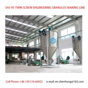 ENGINEERING GRANULES TWIN SCREW PLASTIC EXTRUDER MAKING LINE