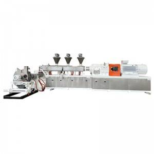 High Concerntrated Color Masterbatches Compounding Making Machine With Four Flights Screw