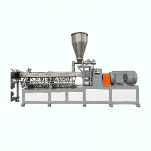 Biodegradable Corn Starch Twin Screw Extruder Machine PLA Pellet Plastic Making Machine