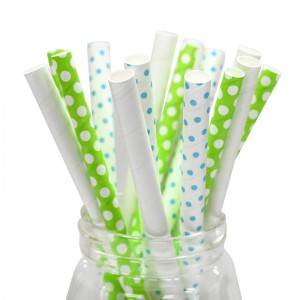 OEM/ODM China Hot Selling Customized Disposable Paper Wrapped Christmas Drinking Straws