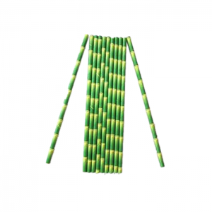 Individually Wrapped Mint Green Bambow Paper Straws For Party