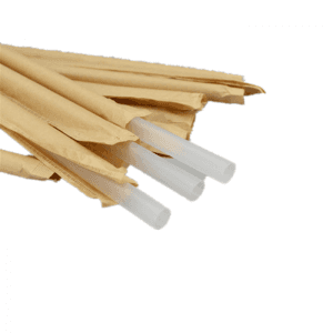 Natural Color 100% Recycled Individually Wrapped Straw Wrapping Paper