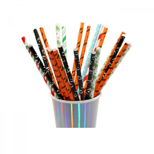 Individual Packed Colorful Beautiful Printed Paper Straws Custom