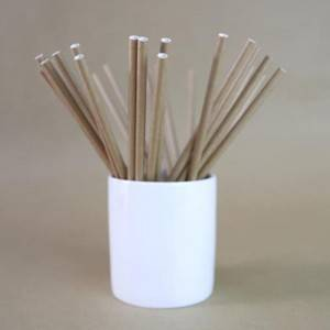 Wider Natural Color Food Grade Paper Straws For Tea with milk