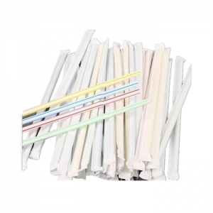 White Regular Size Slitted Food Grade Kraft Paper Straw Wrapping Paper