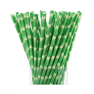 3d Printing Green Environment-friendly Bamboo Appearance Paper Straw Custom