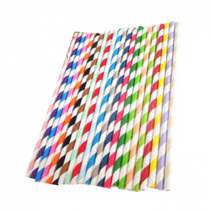 Wholesale Colorful Beautiful Eco-friendly Biodegradable Paper Straw Custom