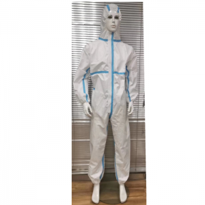High Quality White PP+PE Disposable Sterile Isolation Medical Protective Gowns