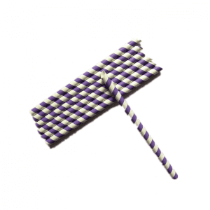Wholesale Portable Food Grade Purple Sharp Drinking Paper Straws