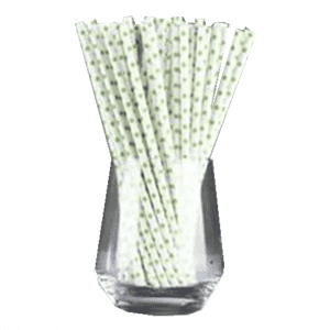 Wholesale Mint Green Beautiful Biodegradable Compostable Paper Straw Custom