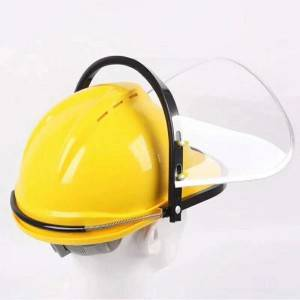 Safety Helmet Style Protective Face Shield Used On Safety Helmet