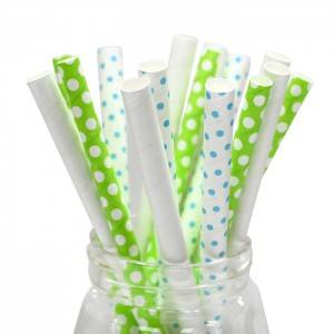 Biodegradable Eco-friendly colorful drinking paper straws