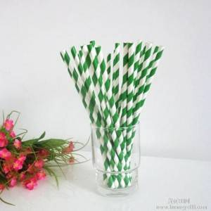 10 Inch Mint Green Biodegradable Food Grade Paper Straws For Festival