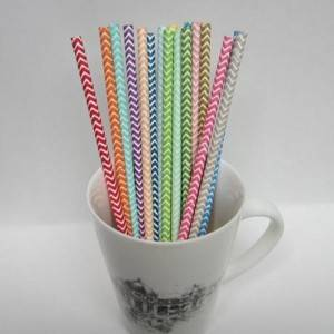 Wholesale Biodegradable Food Grade  Paper Straws Pipe Customized