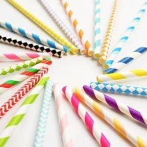 Wholesale Striped Colorful Individual Packed Paper Straws Tube Custom