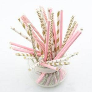 Individually Wrapped Large Romantic Paper Straws For Valentine's Day