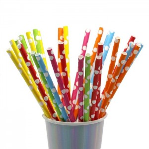 Bright Colors Beautiful Appearance Paper Straw For Drinking