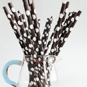 Free From Any Smell Beautiful Appearance Paper Straw With Soy-based Ink