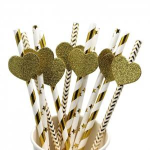 Multicolor Disposable Paper Straw For Party Decoration