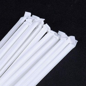 White Eco-friendly Paper Straws Wrapping Paper Custom