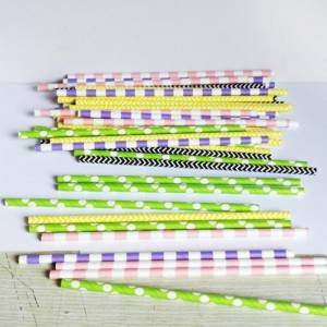 Portable Eco-friendly Design Colorful Paper Straws