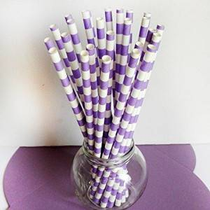 Wholesale Slitted Paper Straws Cartoon Design