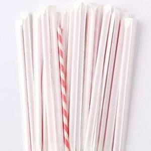 White Multifunctional Paper Straws Pipe Wrapping Paper