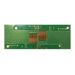 0.1mm Gat Rigiede-Flexible PCB raad Gerber raad