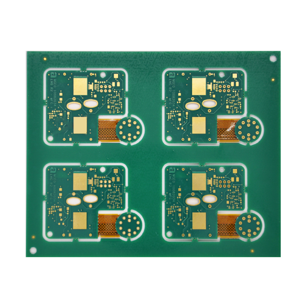 0.2mm Gat PCB Gemengde Kompressie Rigiede -Flexible PCB raad