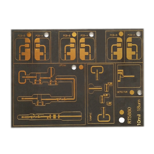 Manufacturing Companies for Resin Plug Hole Rogers Double Sided PCB Circuits Board -