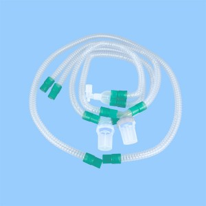 Disposable ná Nkụnwụ Ahụ Breathing Circuit-mesikwuru