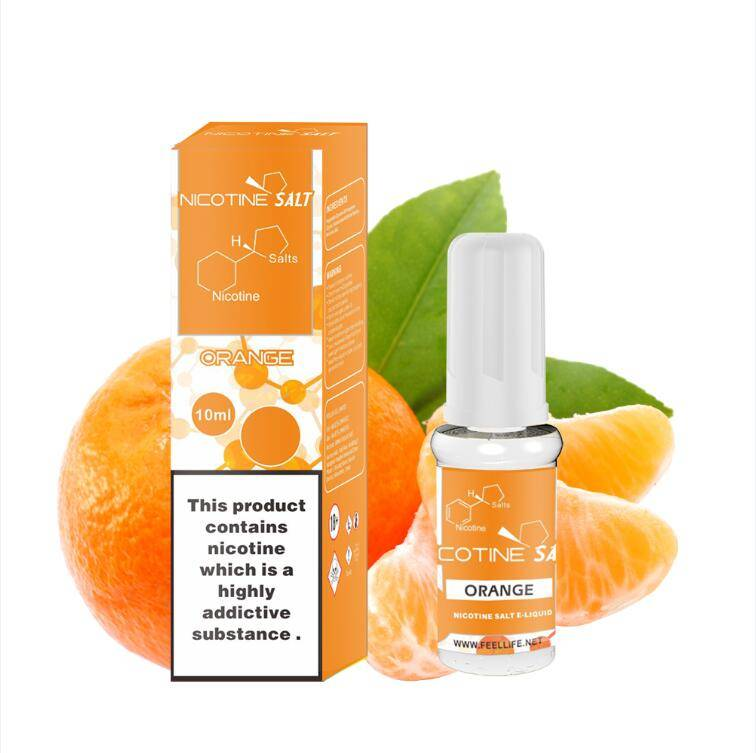 Orange nicotine salt e-liquid Featured Image
