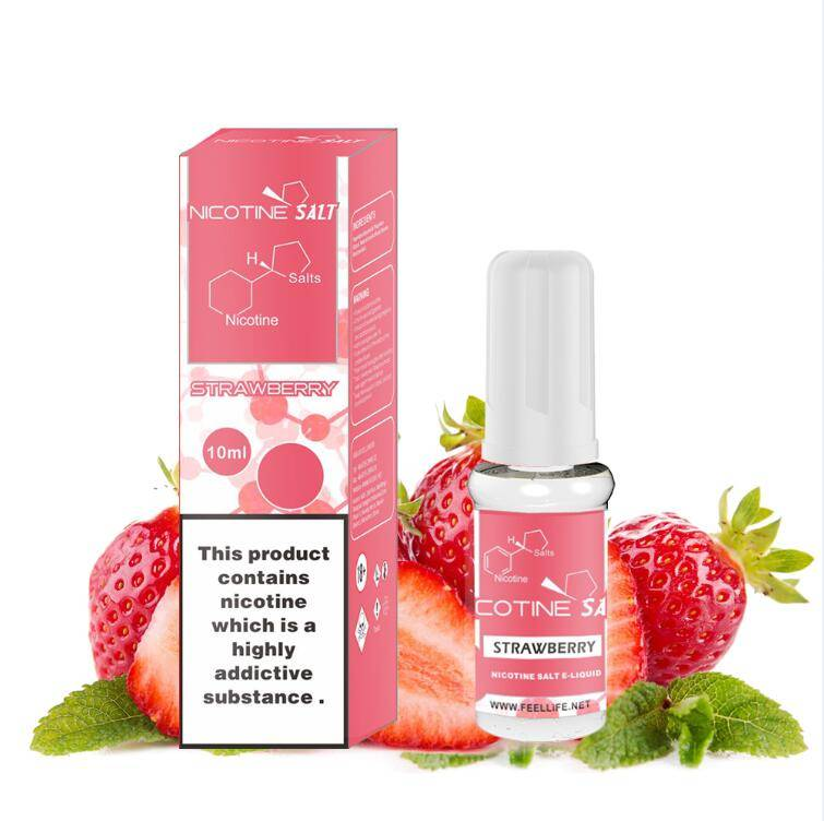 Strawberry nicotine salt e-liquid Featured Image