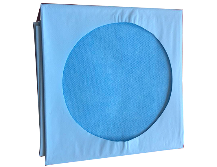 Disposable Surgical Drape   Adhesivee Sheet Circular Fenestration