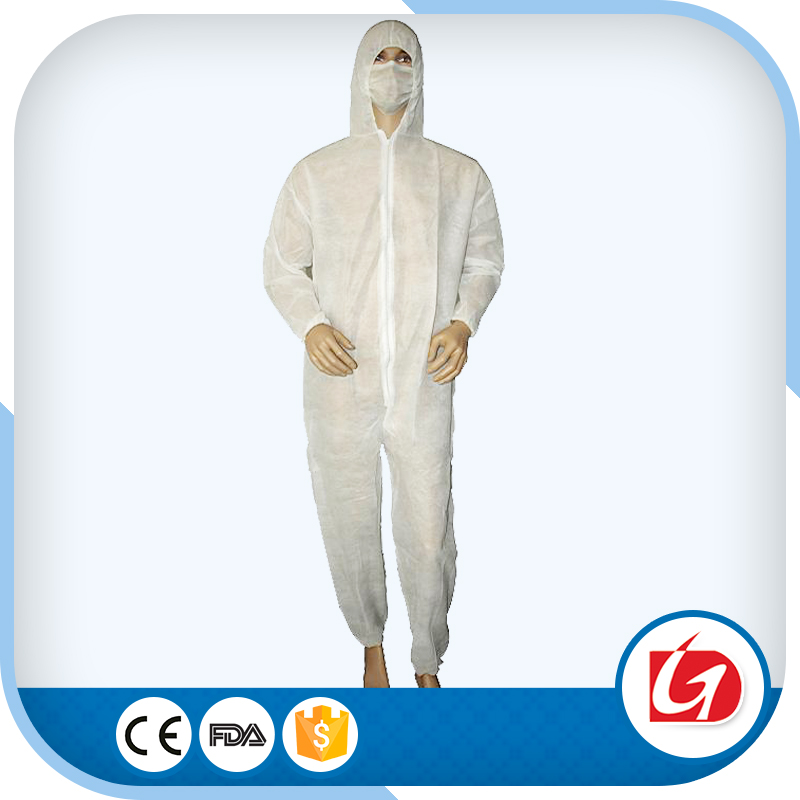 Golden Supplier Disposable Coverall White Protective Clothing