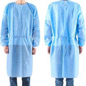 isolation gown pp pe autoclavable sterile fold gown