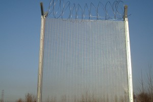 Galvanized anti-climb fence