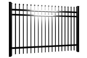 Powder Painted Wrought Iron Fence