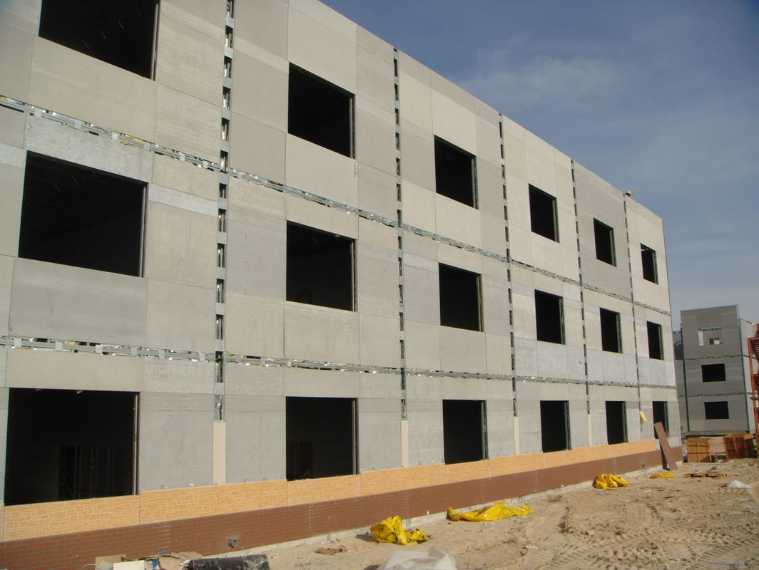 Fireproof Calcium Silicate Board Partition Siding , Exterior Fibre Cement Cladding Board